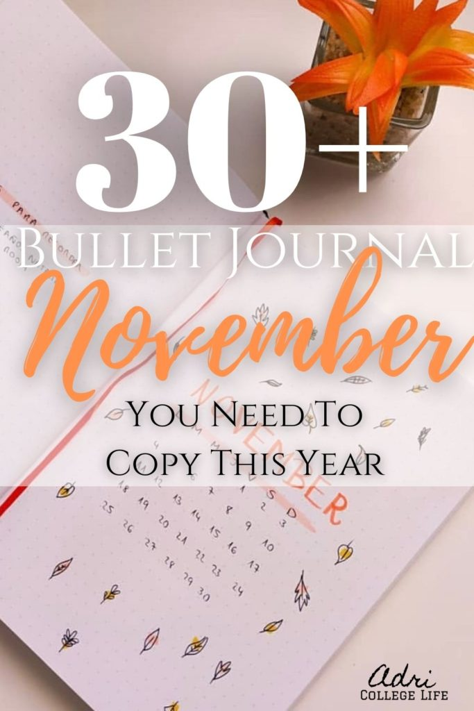 No need to look any further for your November bullet journal spread ideas. I have them all here for you. Get inspired by these bullet journal spreads for your bullet journal. #BUJO #mothlyspread