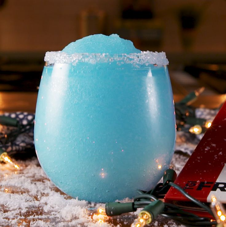 Jack Frost Christmas drink