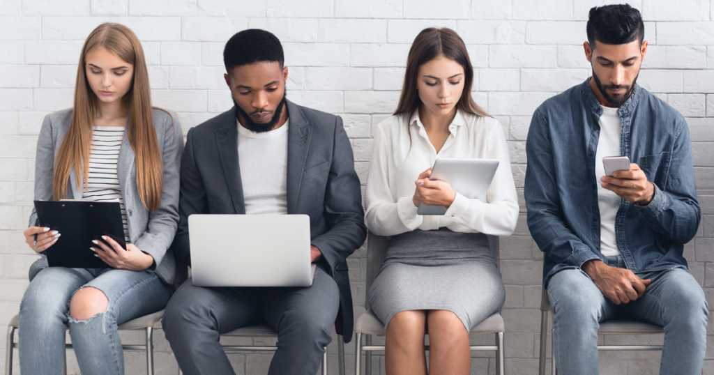 Job interview tips: waiting in line